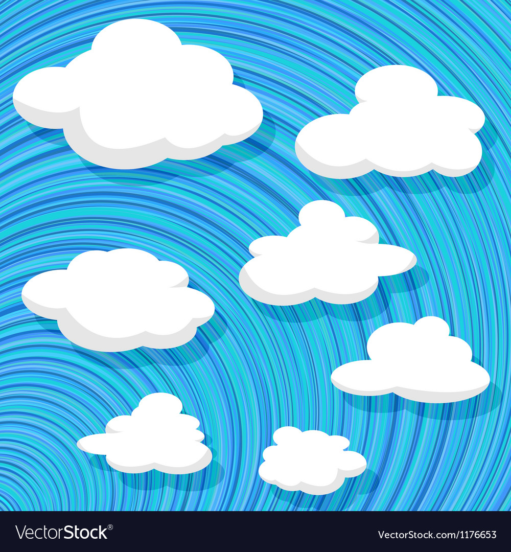 Cartoon style clouds Vector Image
