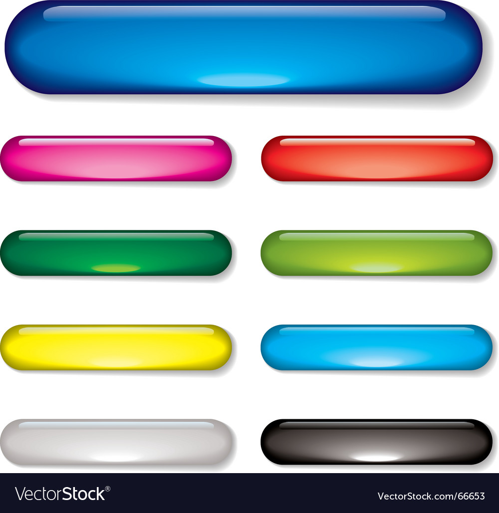 Gel bar button vector image