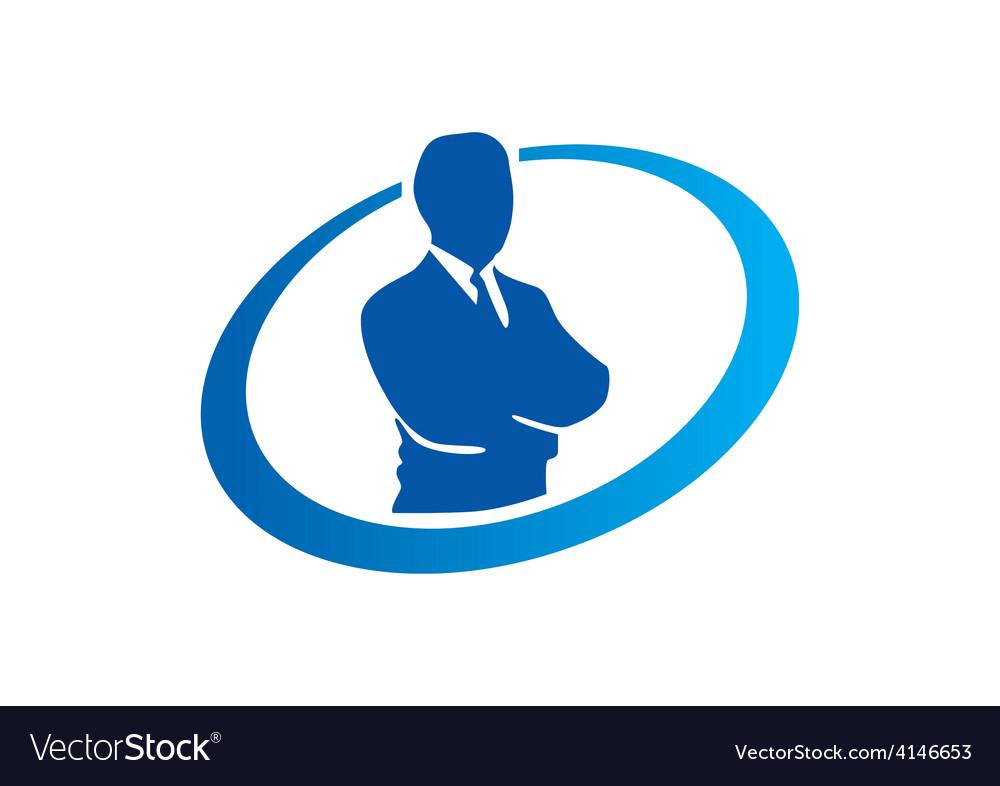 Success businessman abstract logo Royalty Free Vector Image