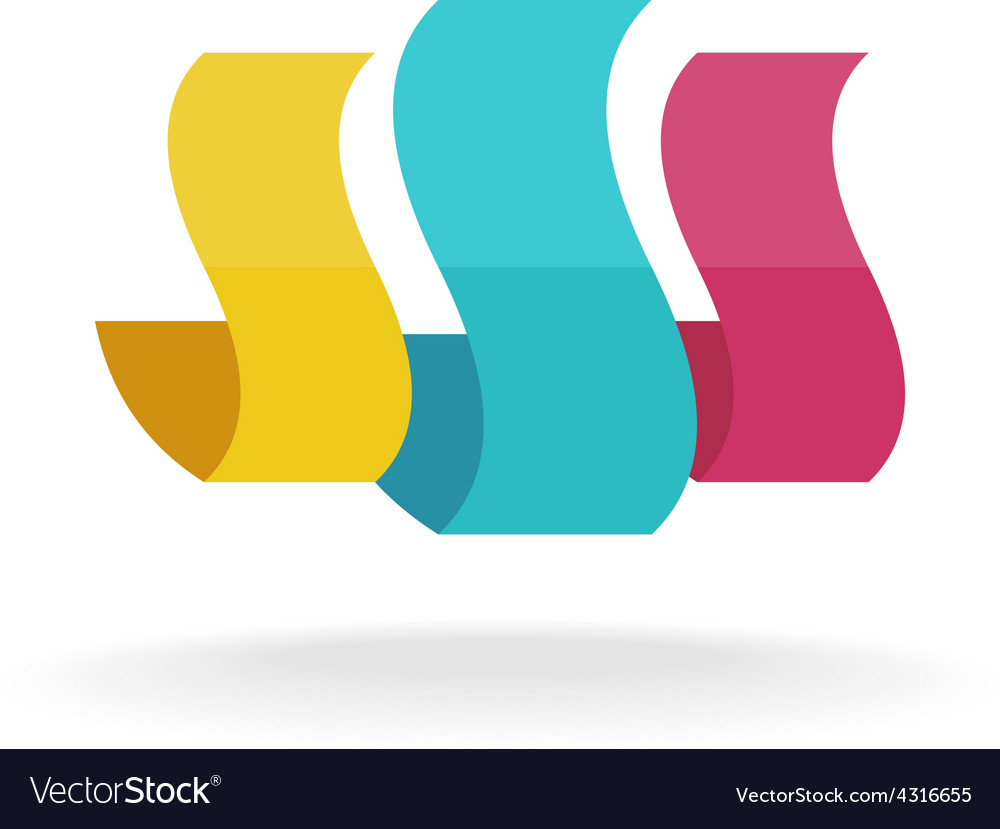 Abstract shapes logo vector image