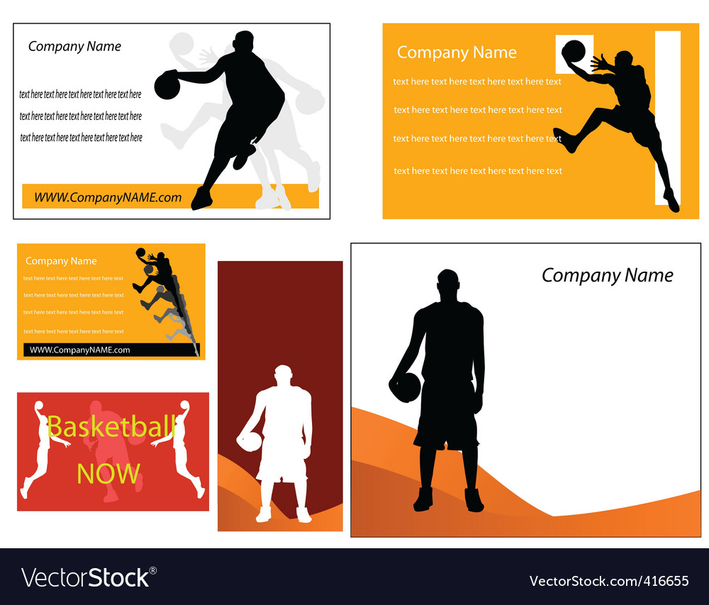 Basketball business cards Royalty Free Vector Image