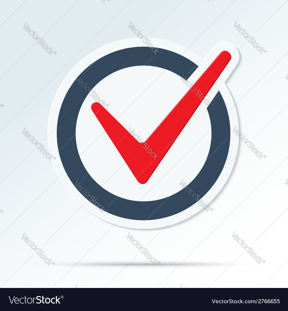 Check mark symbol vector image