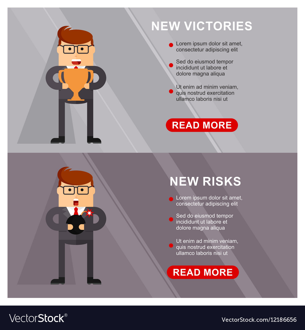 Business banner victories vector image