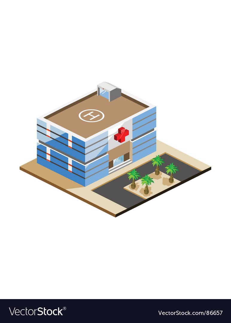 Hospital and medical vector image