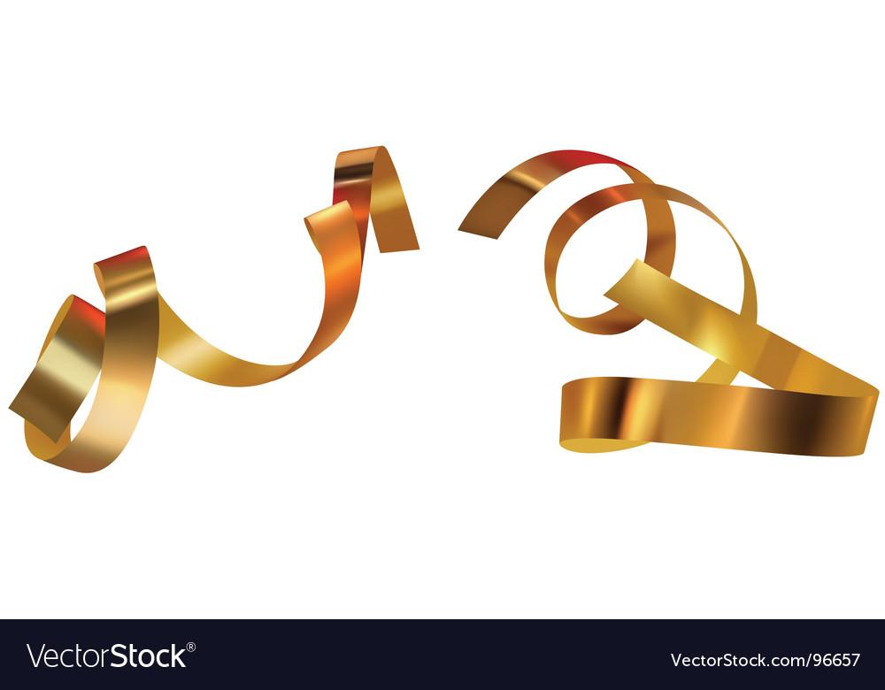 Gold confetti vector image
