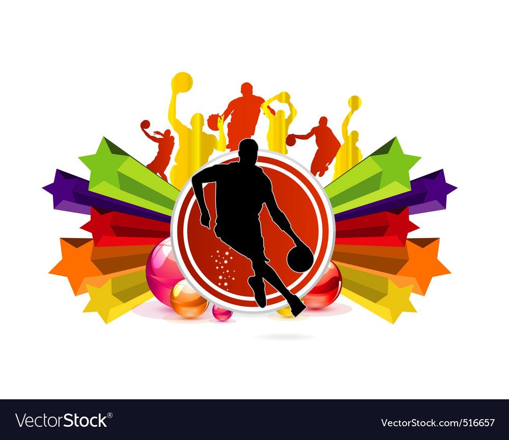 Sport basketball vector image