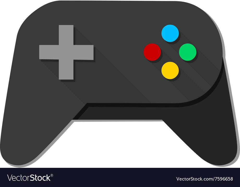 Game Console Black Joystick vector image