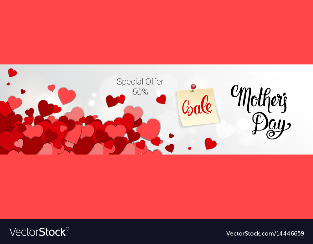 Shopping sale happy mother day discount spring vector image
