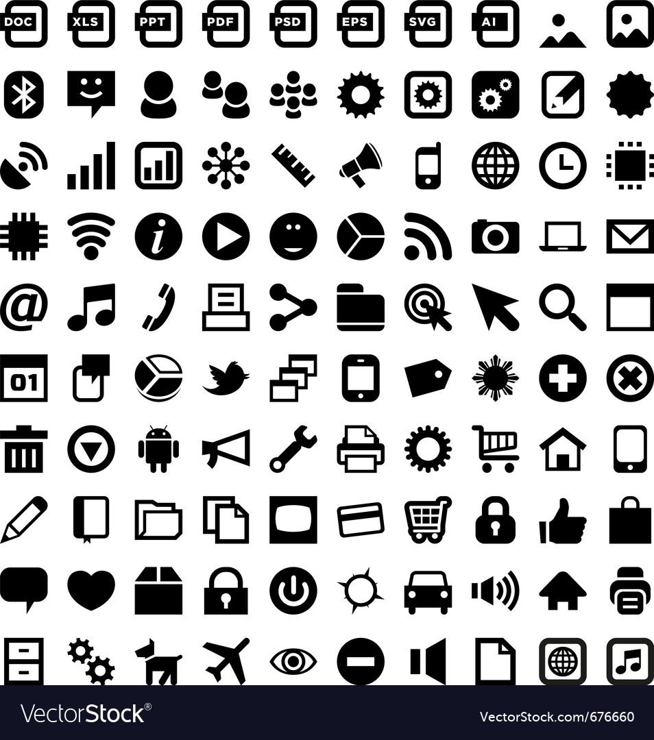 Android icons vector image