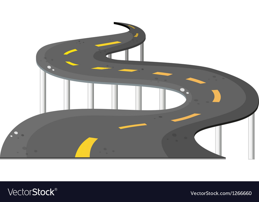 A long road vector image