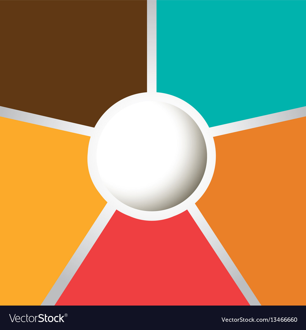 Colors with round background icon vector image