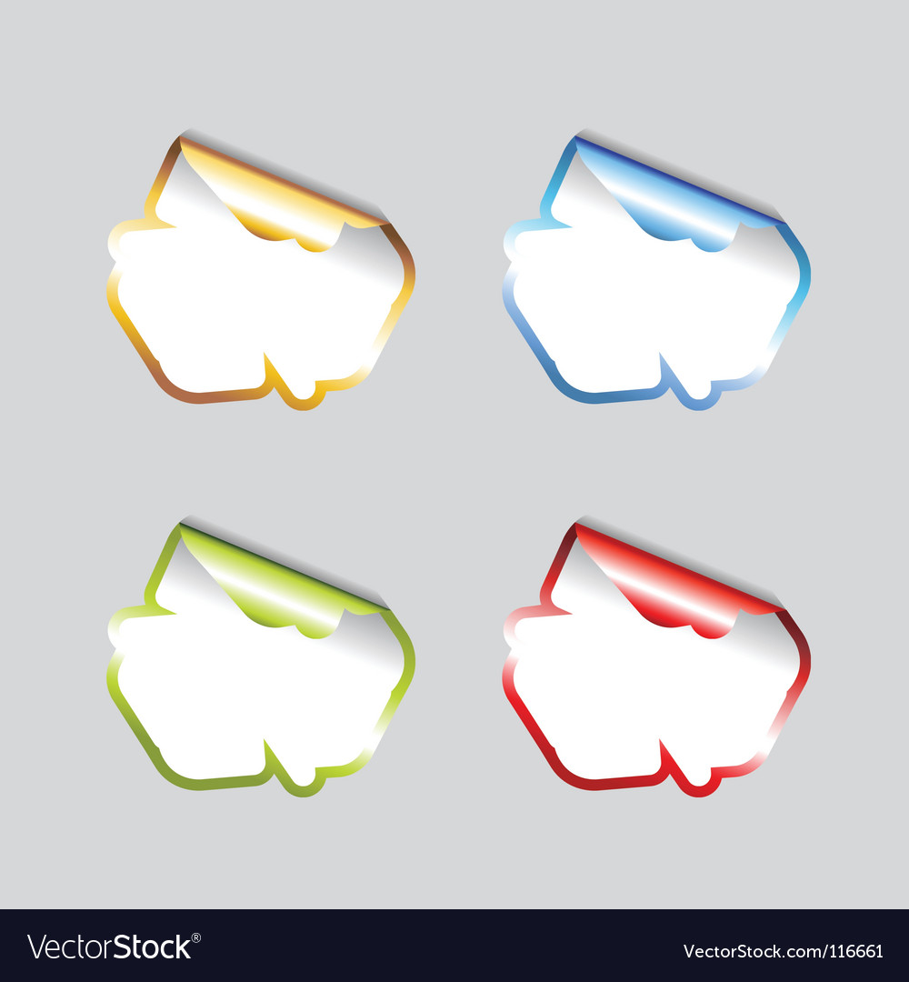 Set of blank tags vector image