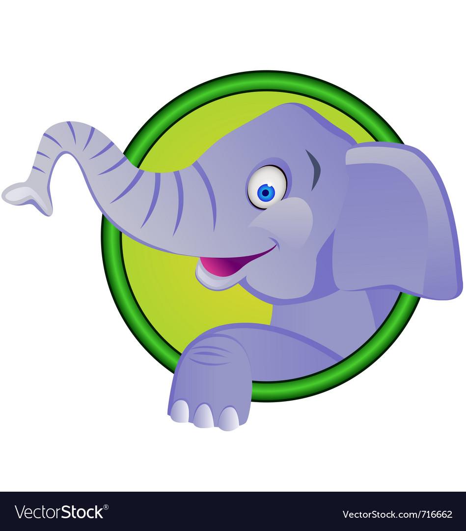 Funny elephant cartoon vector image