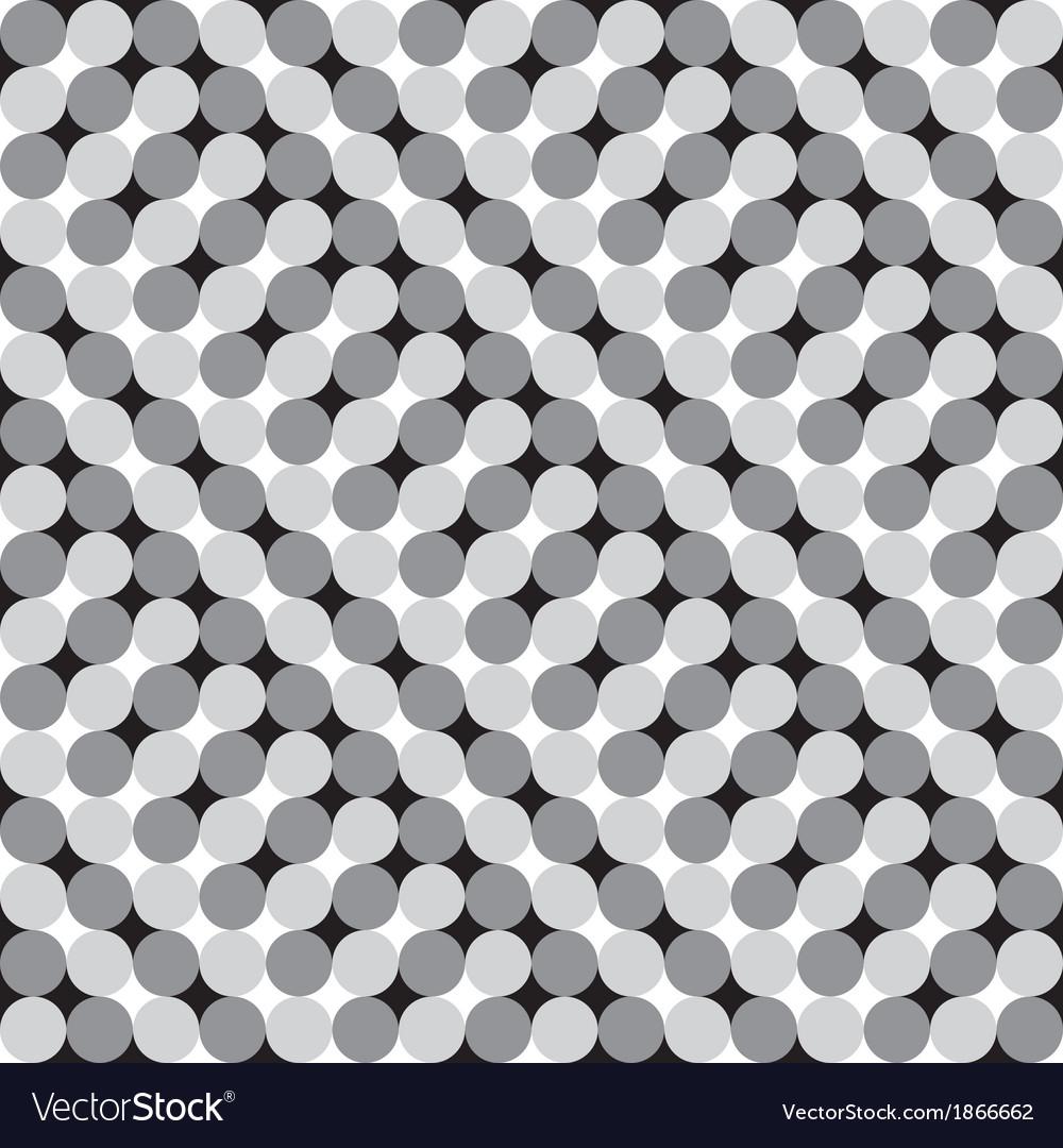 Waving Circles Optical Seamless Pattern vector image