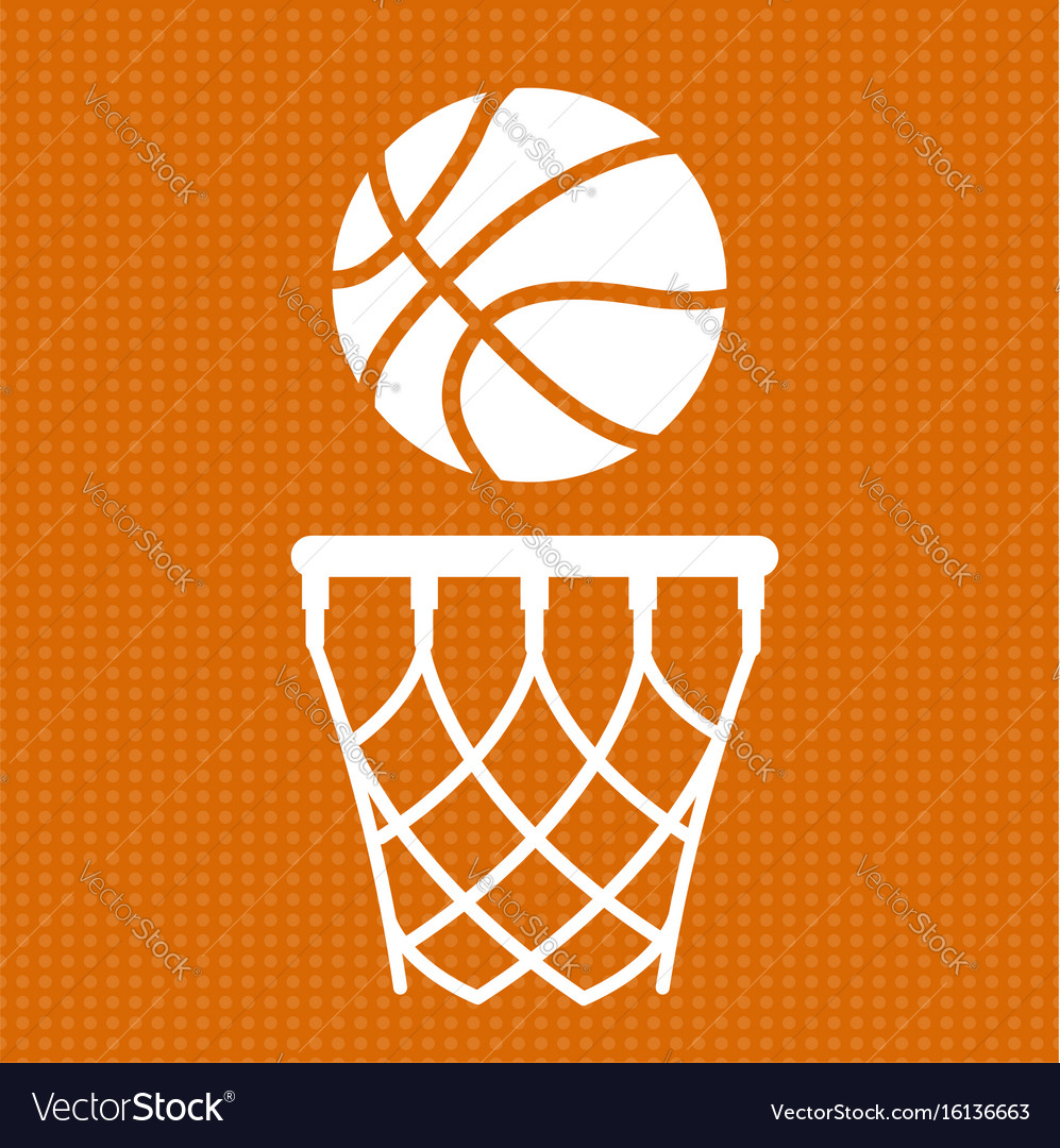 Flat basketball background Royalty Free Vector Image