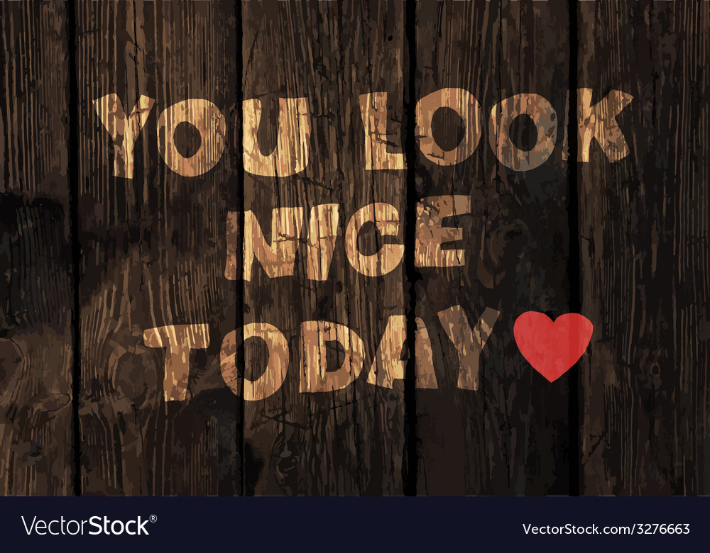 You look nice exclamation vector image