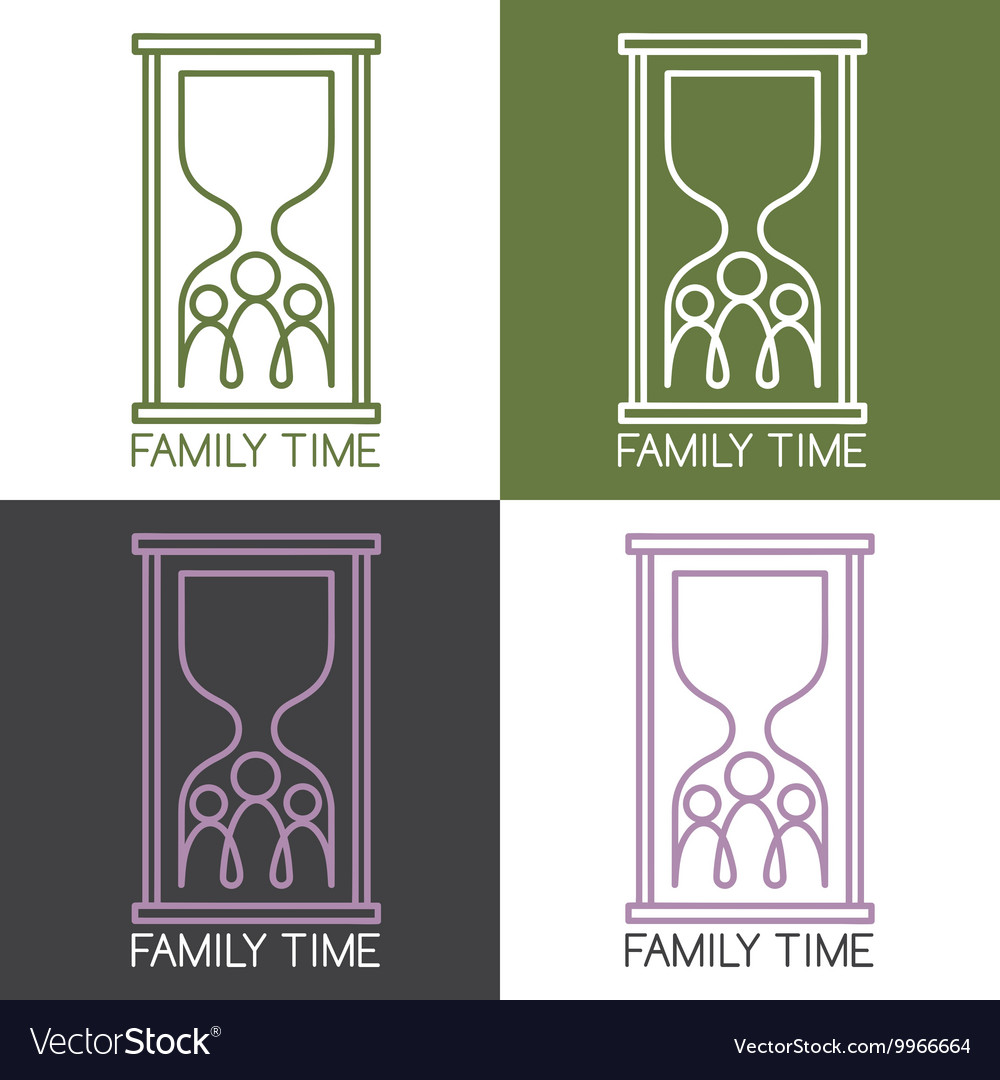 Set of concept with family connection vector image