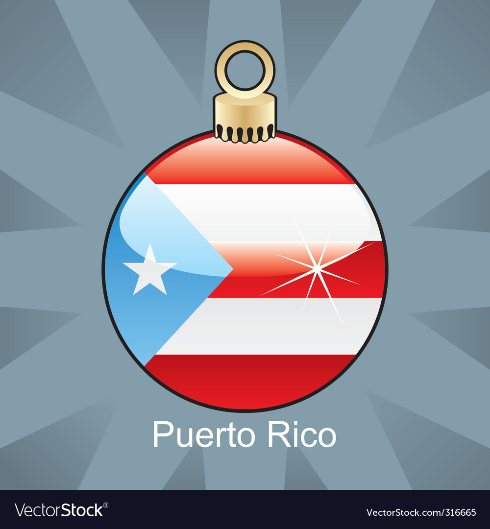 Puerto rico flag on bulb vector image