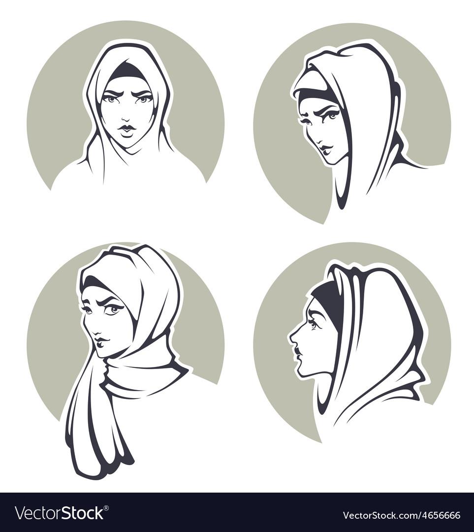 Arabian girls vector image