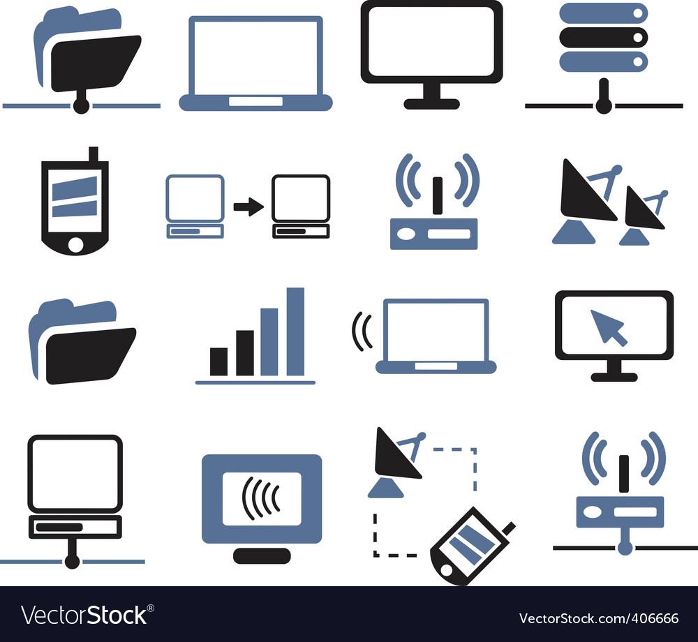 Connection and network signs vector image