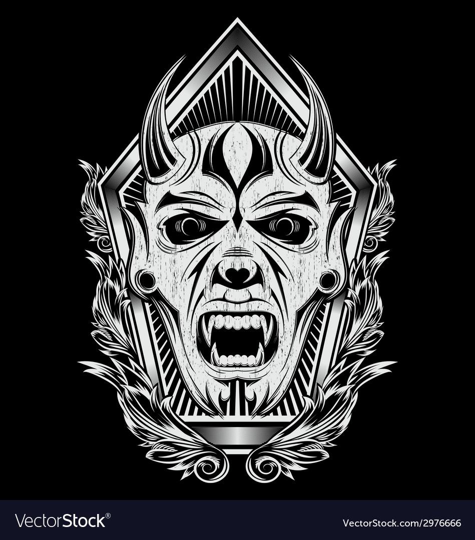 Devil Face Artwork vector image