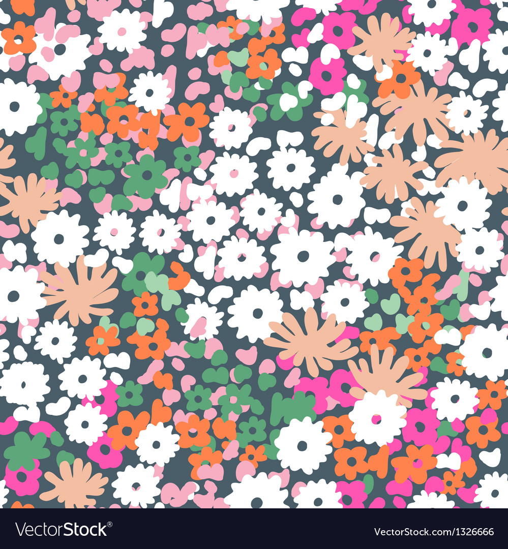 Popcorn flowers vector image