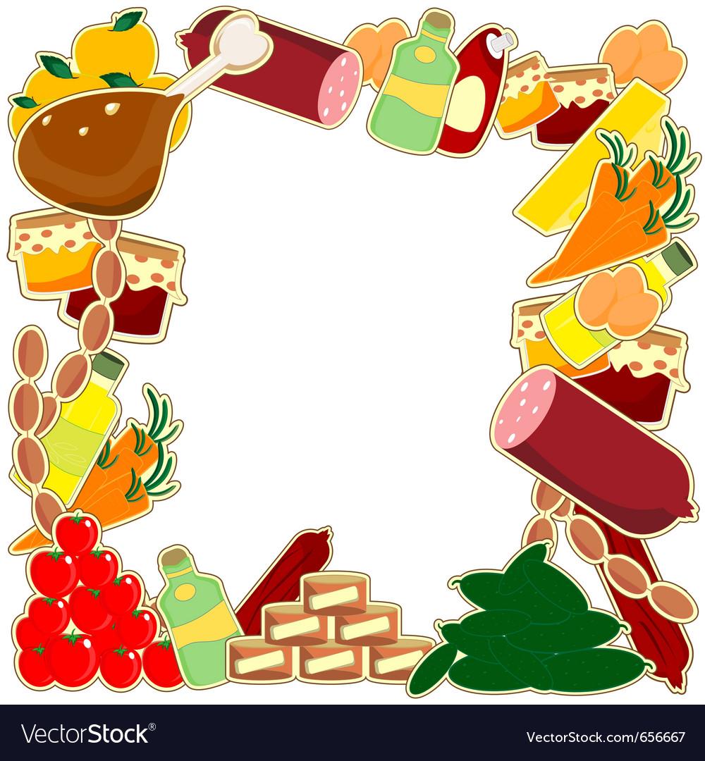 Food frame Royalty Free Vector Image - VectorStock