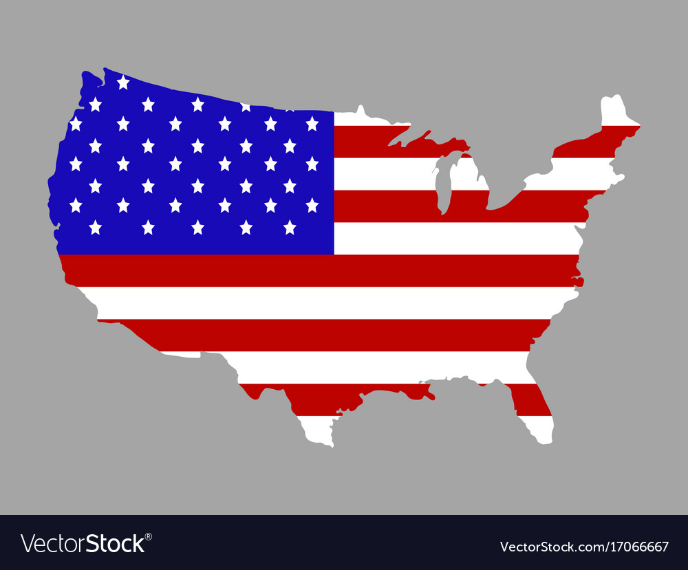 Map with flag vector image