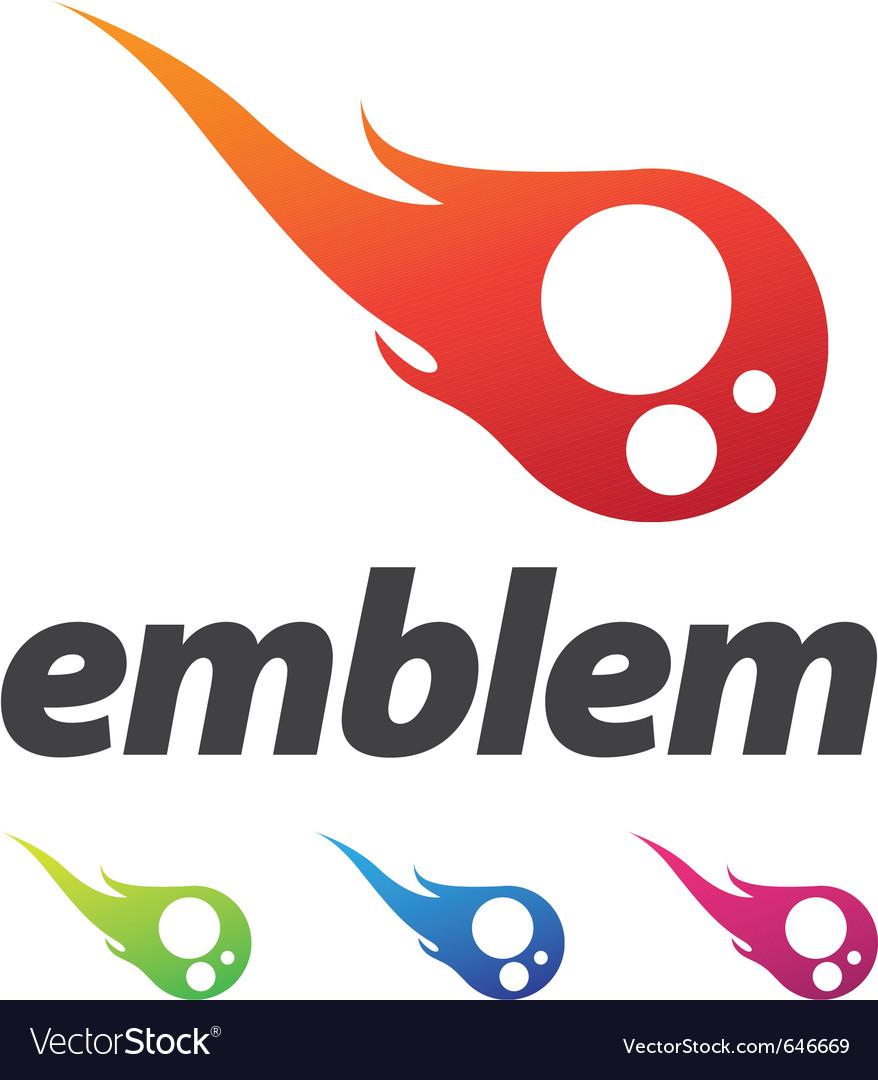 Business corporate design element emblem as fire b vector image