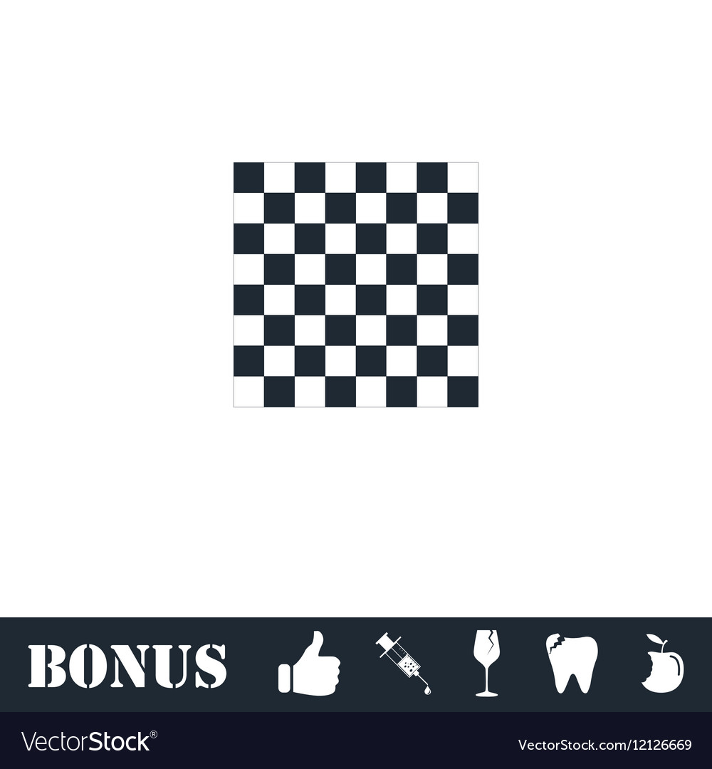 Empty chess board icon flat vector image