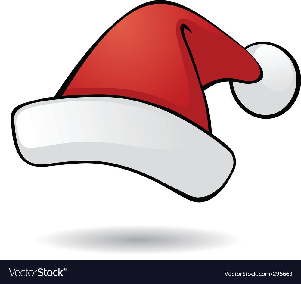 santa hat royalty free vector image vectorstock rh vectorstock com Santa Hat Outline Santa Hat SVG