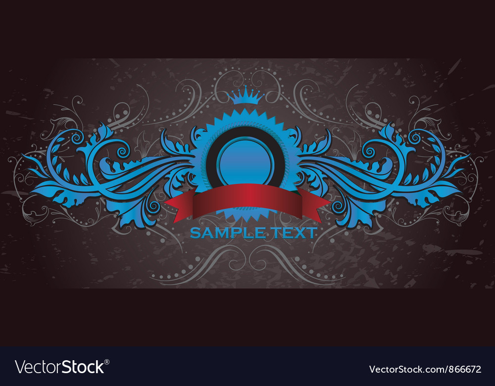 Vintage label with grunge background vector image