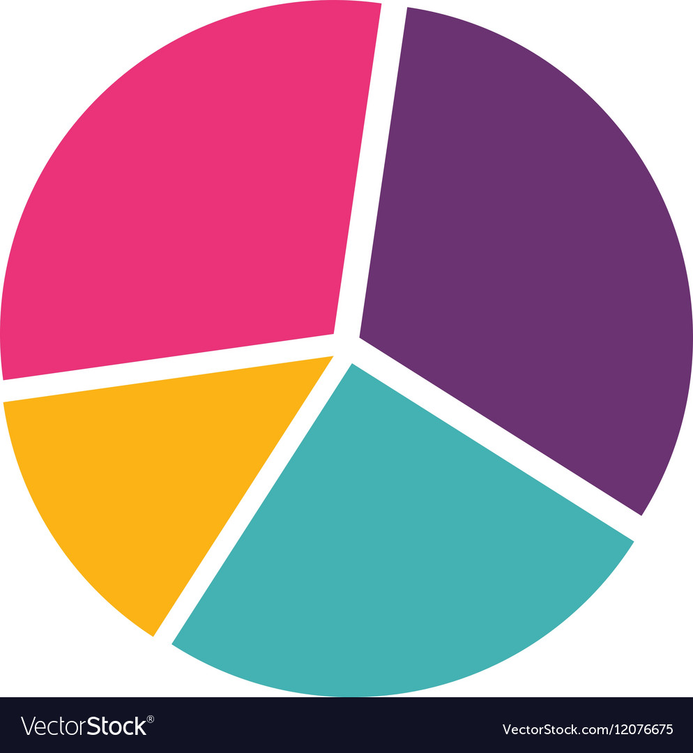 Colorful silhouette with pie chart royalty free vector image colorful silhouette with pie chart vector image nvjuhfo Choice Image