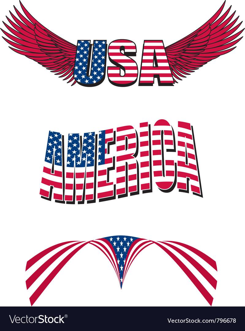 Patriotic designs vector image