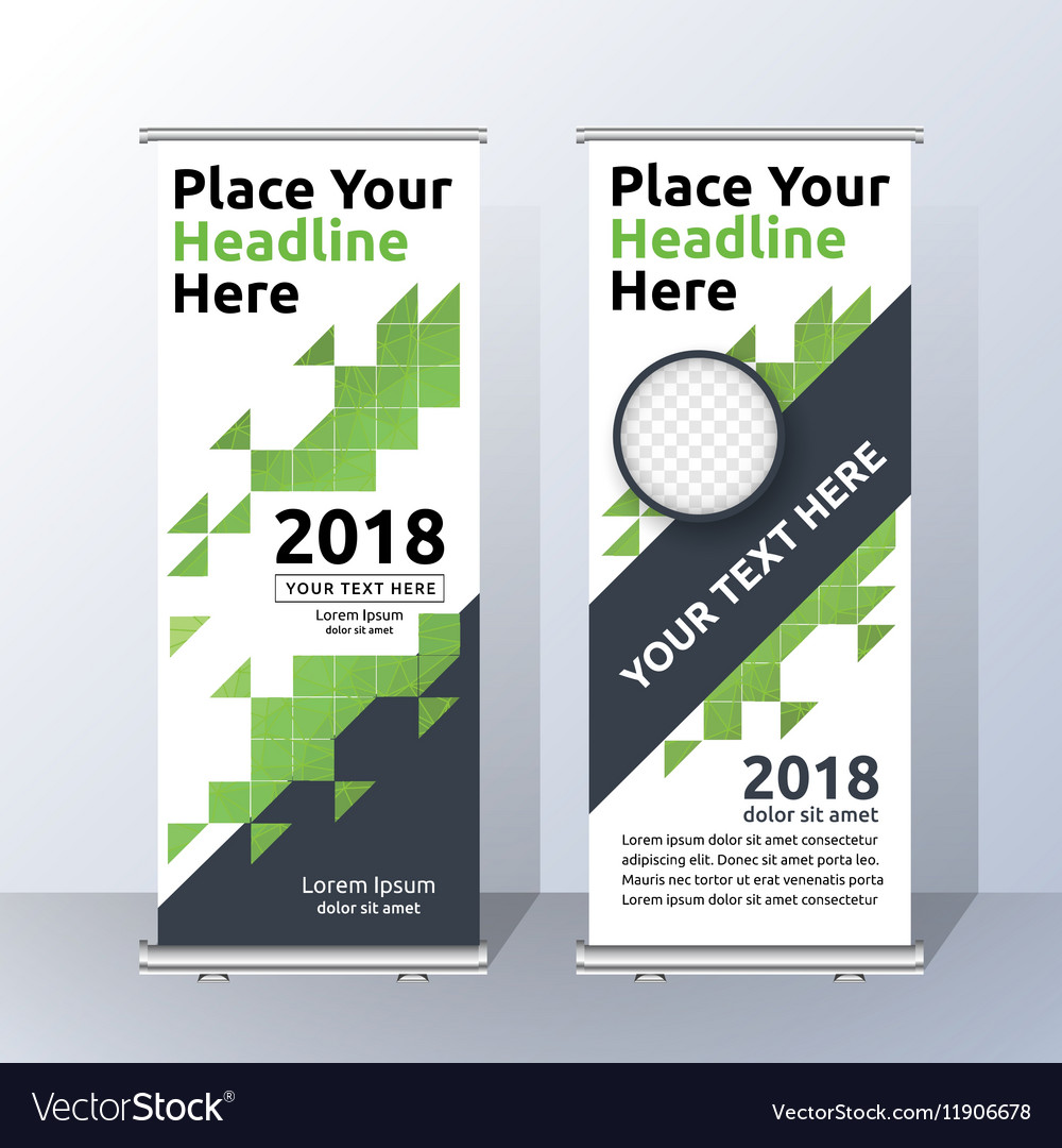 Vertical Roll Up Banner Template Design Royalty Free Vector