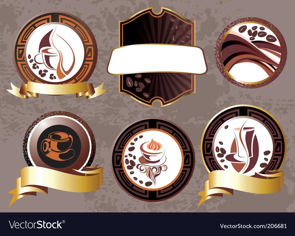 Coffee break design elements vector image