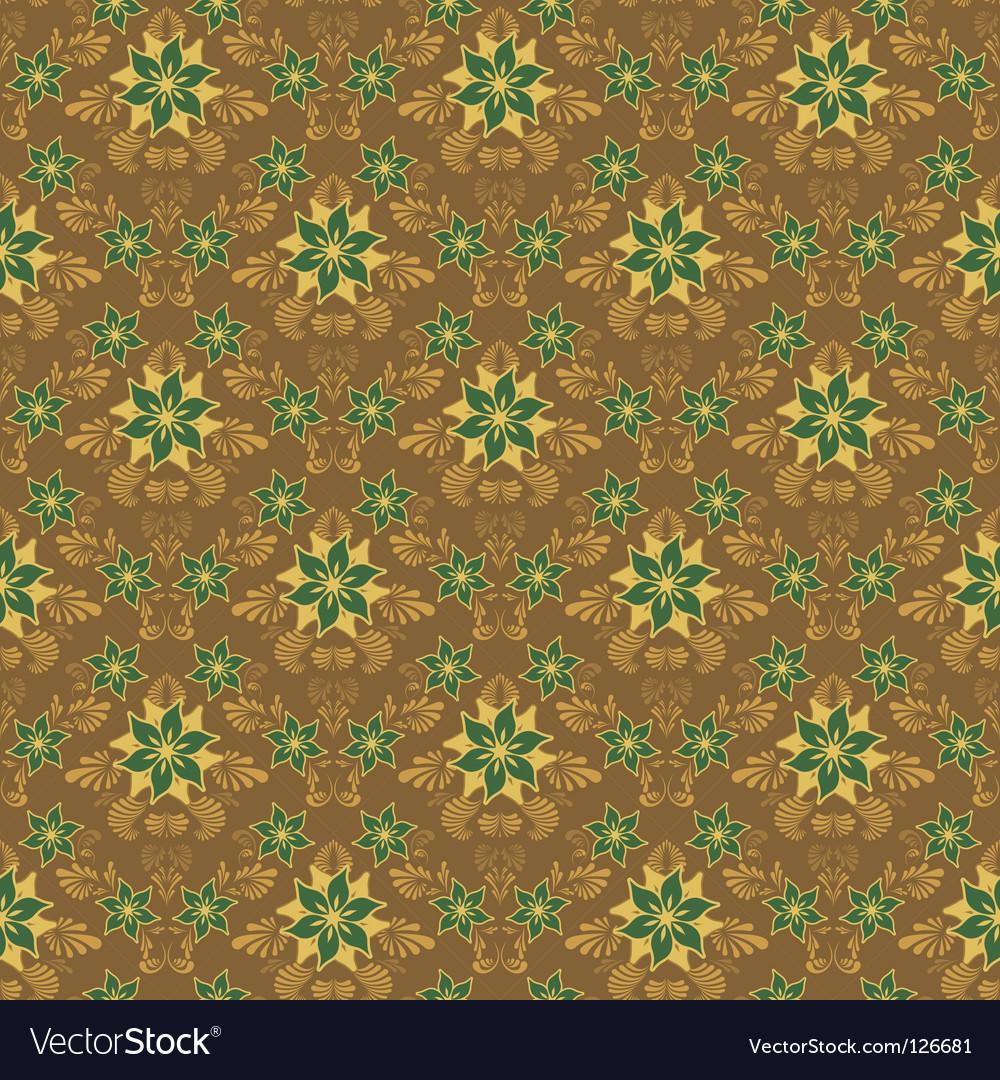 Retro damask background vector image