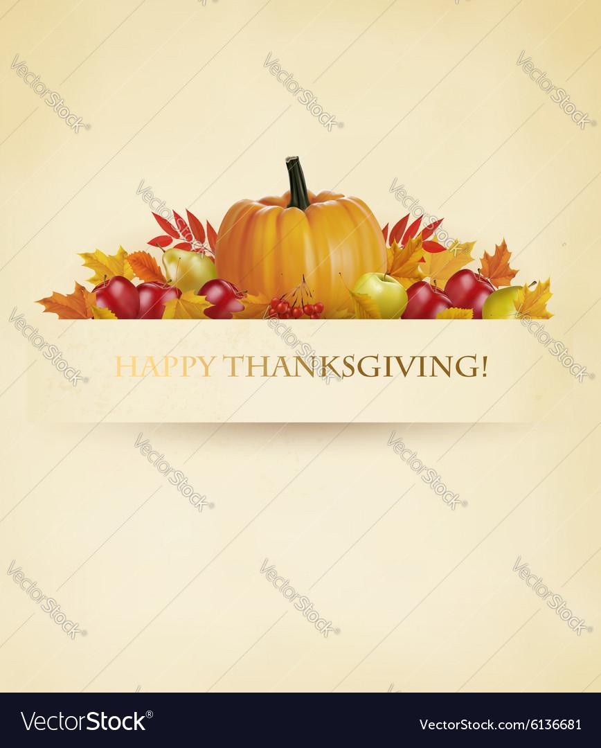Retro Happy Thanksgiving Background vector image