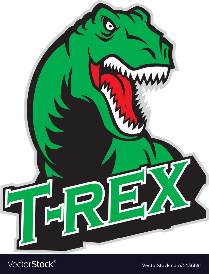 T-rex mascot vector image