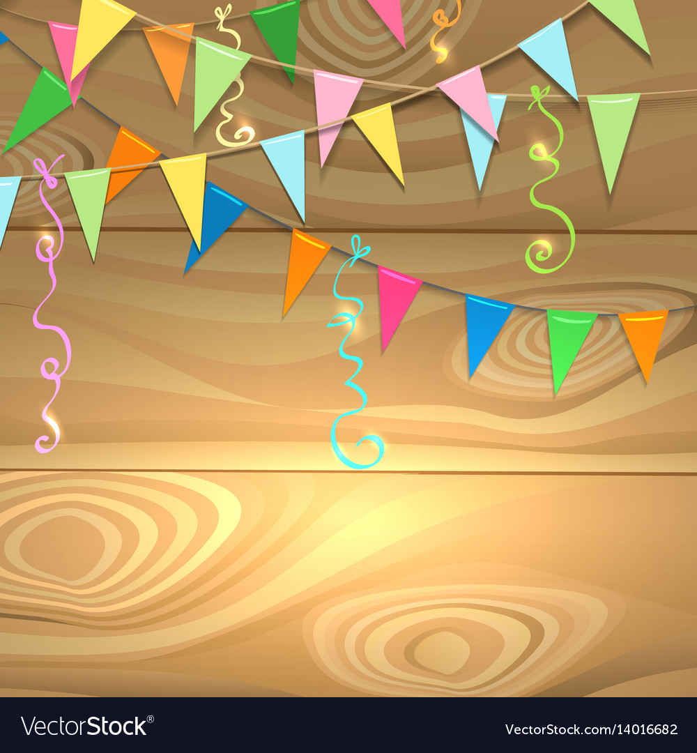 Holiday poster festive design vector image