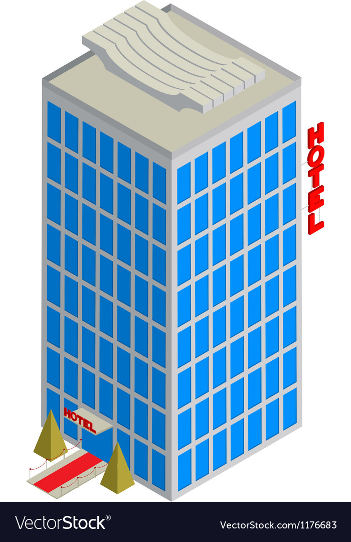 Isometric hotel icon Vector Image