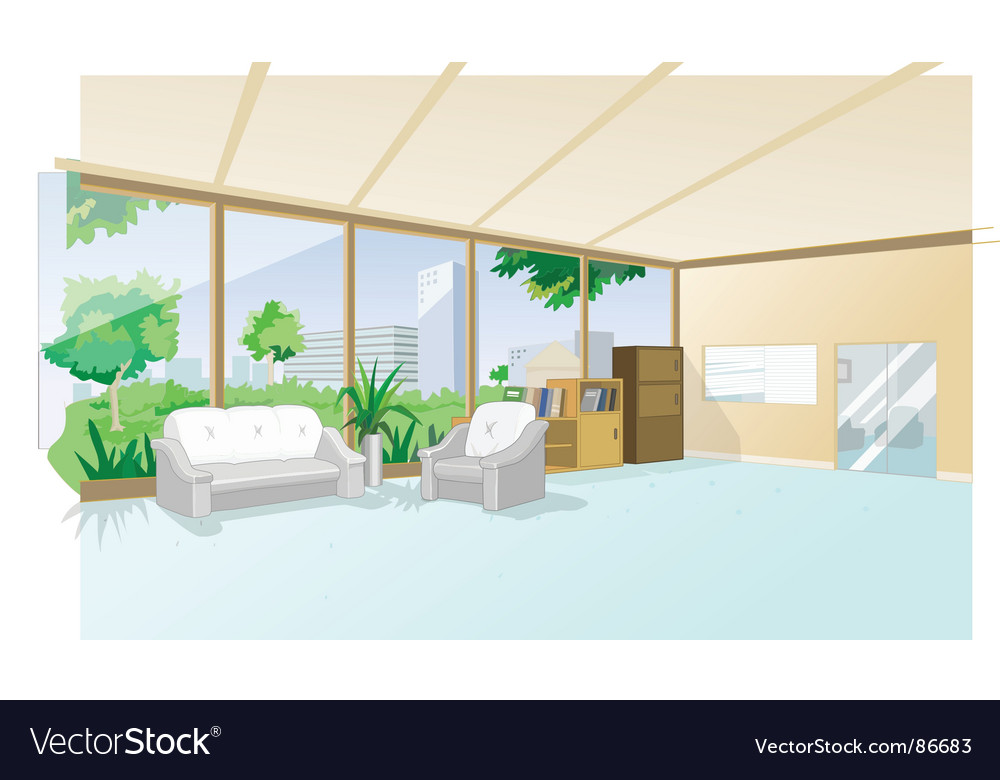 Interior house office vector image