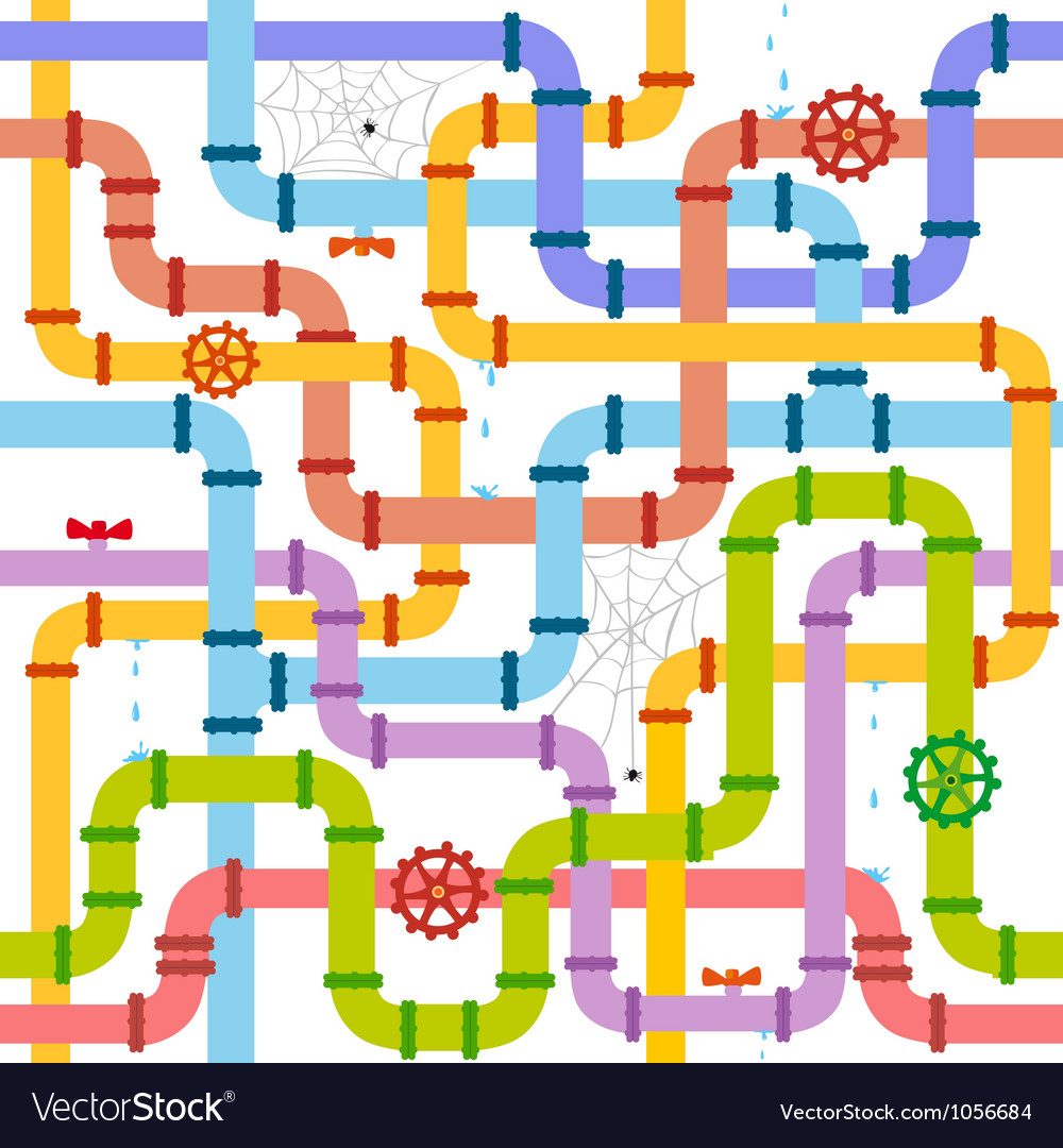Pipe seamless vector image
