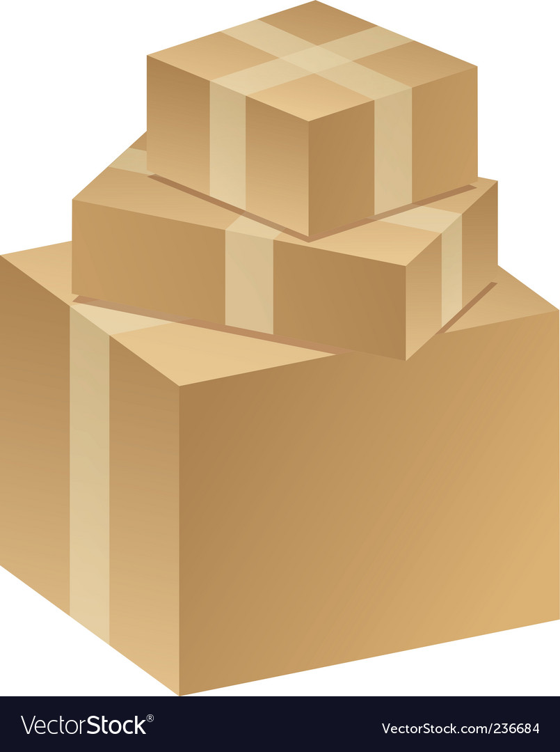 Packages boxes vector image