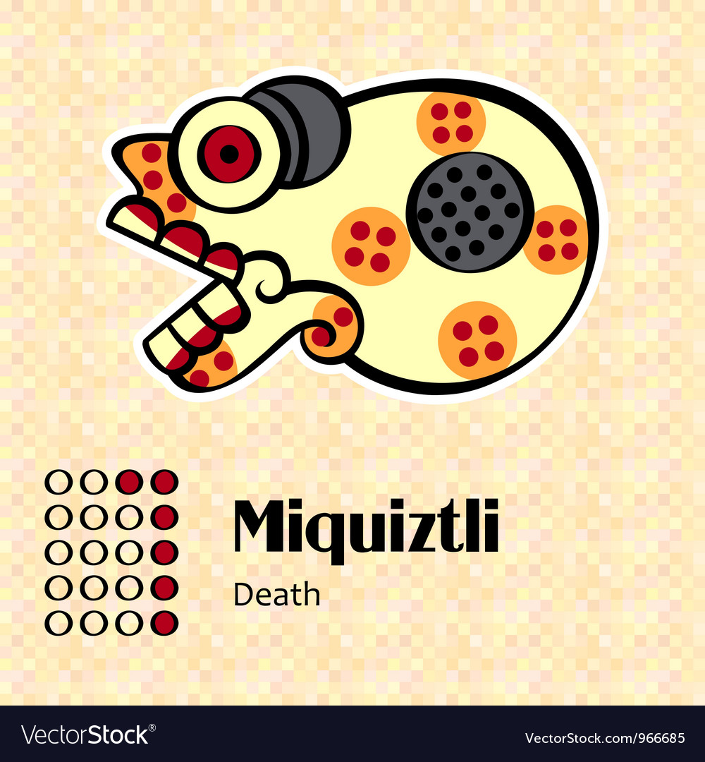Pictures of aztecs symbols impremedia aztec symbol miquiztli vector image biocorpaavc Image collections