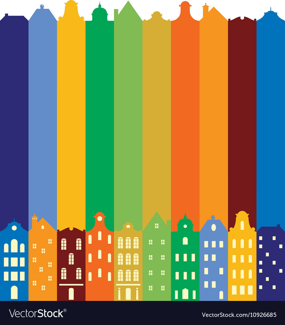 European cityscape Skyline Silhouette of vector image