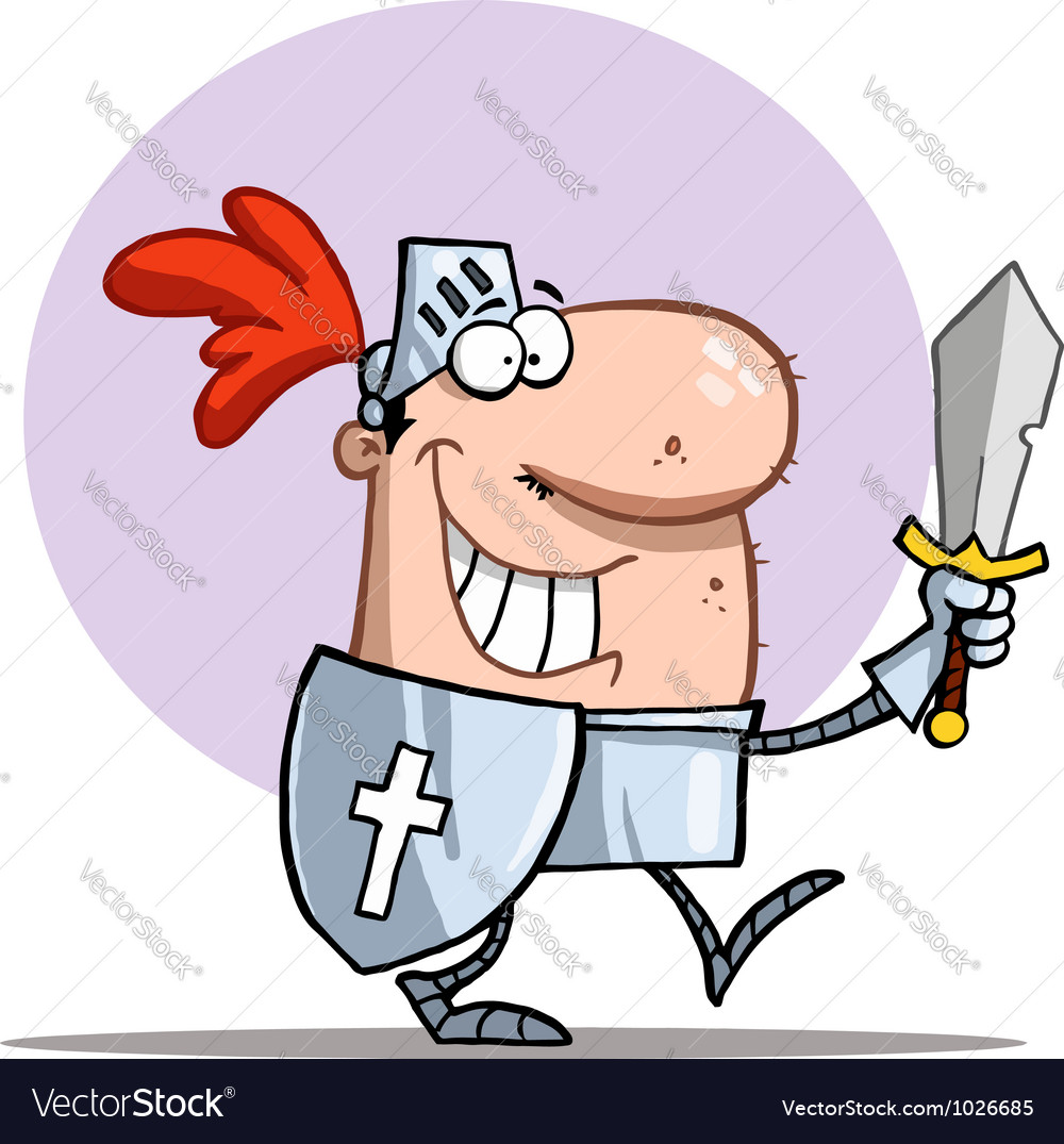 Happy Proud Knight vector image