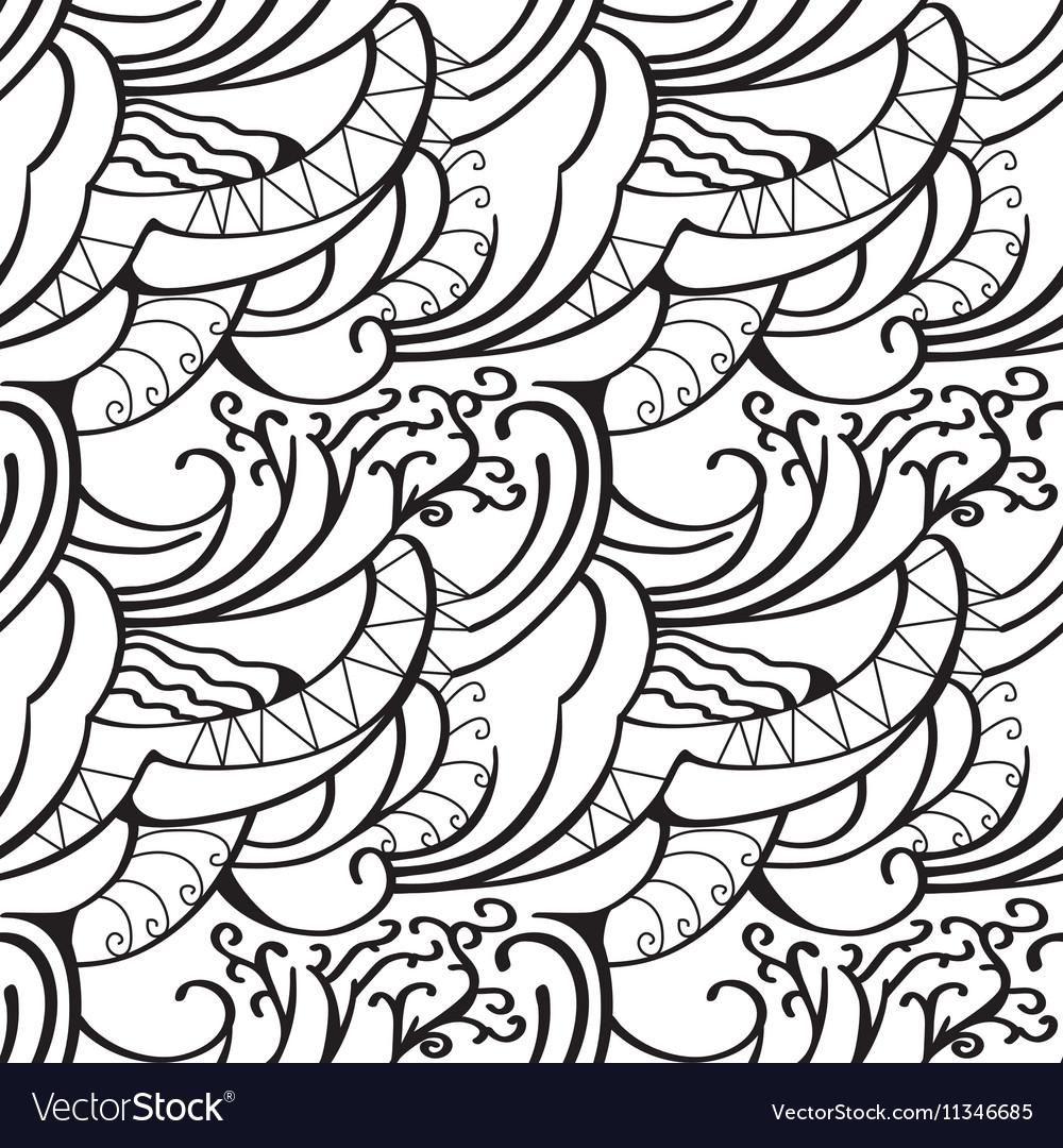 Sketchy doodles decorative outline ornamental vector image