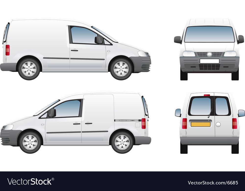 Volkswagen Caddy Delivery Van Royalty Free Vector Image