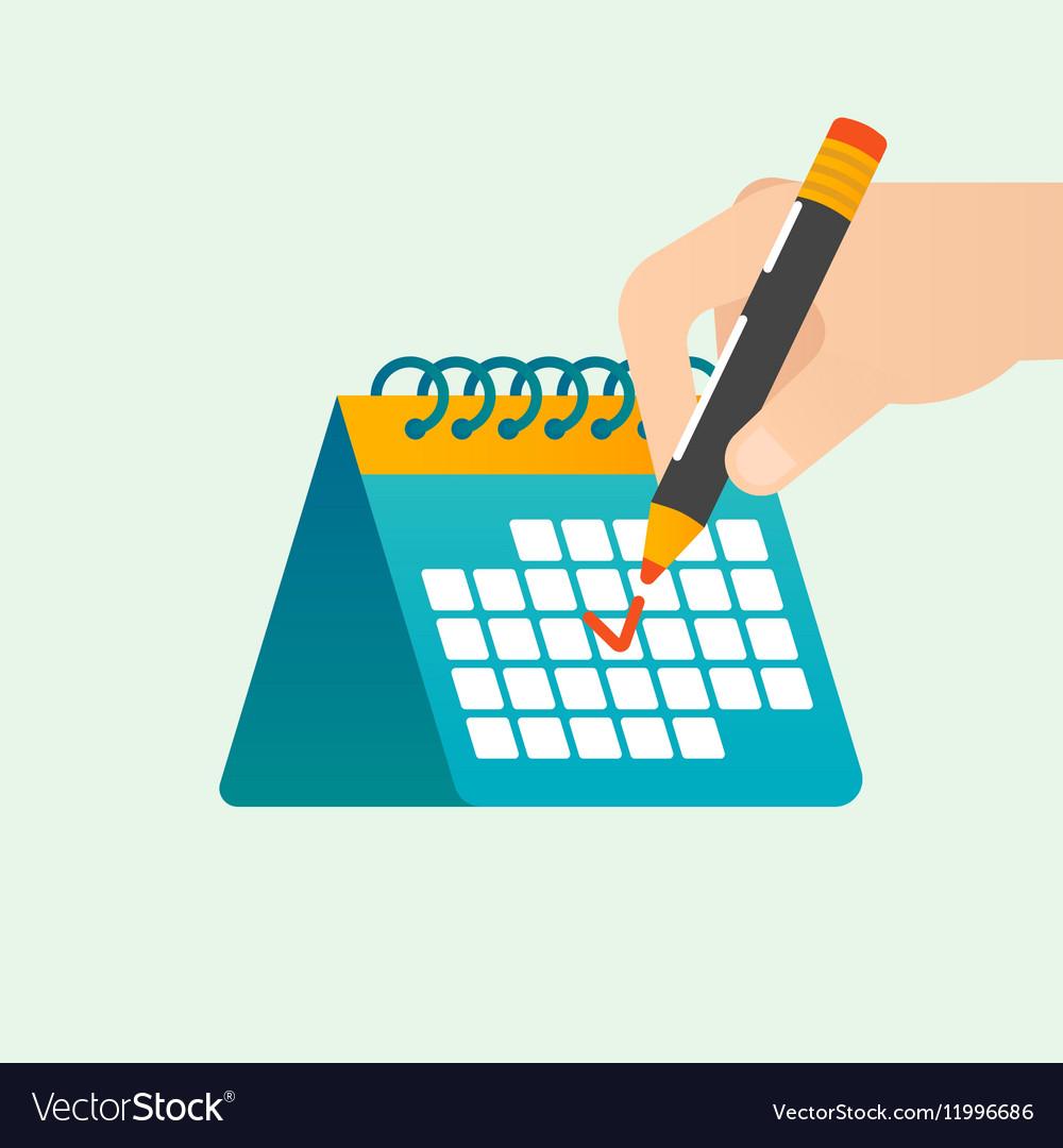 Deadline time management concept vector image